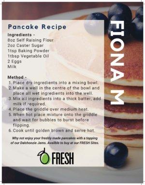 Fiona M pancake recipe