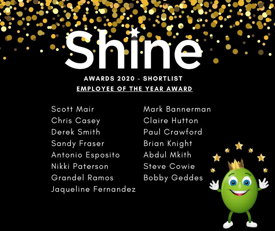Shine finalists 2020