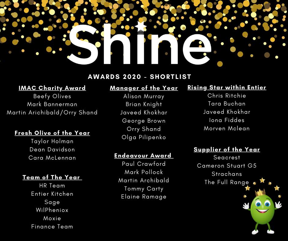 Shine 2020 shortlist